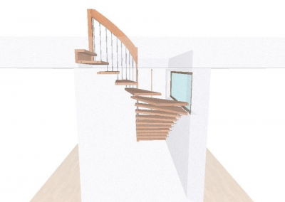Rendering-Planung-Treppe-Komplette-Ansicht-Wand